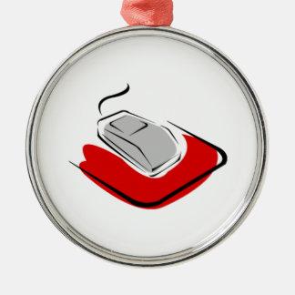 Computer Mouse Metal Ornament