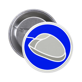 COMPUTER MOUSE SIGN 1 6 CM ROUND BADGE