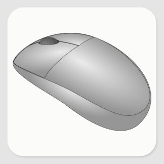 Computer Mouse Square Sticker