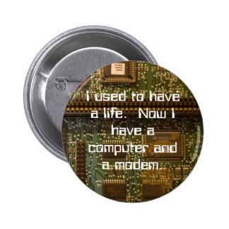 computer nerd button
