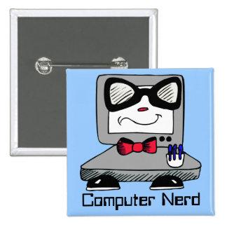 Computer Nerd Geek Button