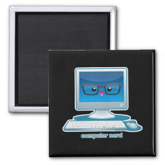 Computer Nerd Square Magnet