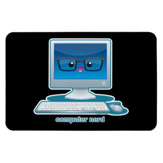 Computer Nerd Rectangular Photo Magnet