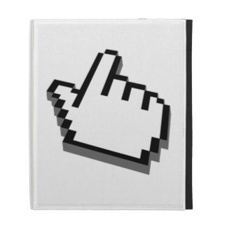 Computer Pointing Hand iPad Folio Cases