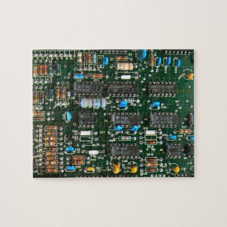 Computer Printed Circuit Board Jigsaw Puzzle