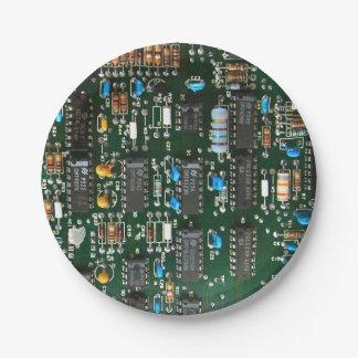 Computer Printed Circuit Board Paper Plate