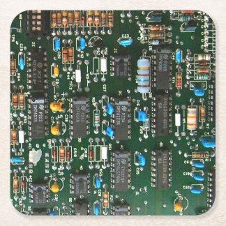 Computer Printed Circuit Board Square Paper Coaster