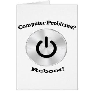Computer Problems Black Letters Card