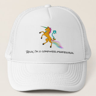 Computer Professional Unicorn Baseball cap