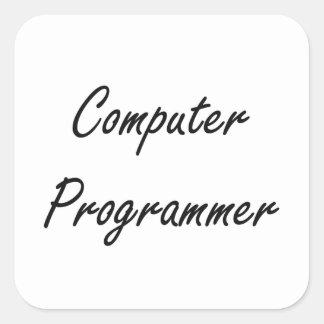 Computer Programmer Artistic Job Design Square Sticker