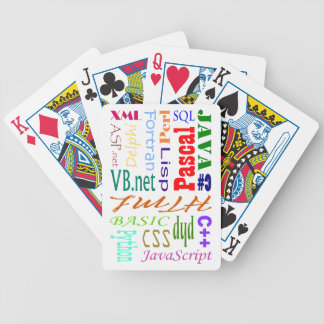 Computer Programmers Playing Cards