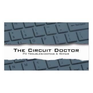 Computer Repair Business Card Keyboard Tearaway