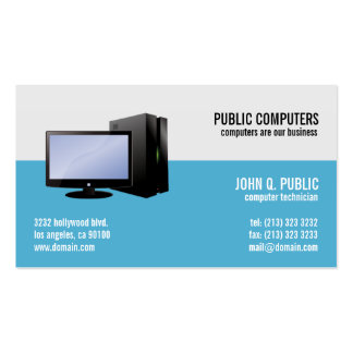 Computer Repair IT Support Network Administrators Pack Of Standard Business Cards