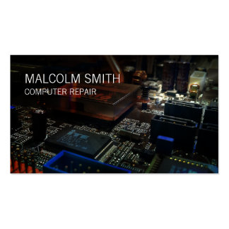 Computer Repair PC Motherboard Circuits Business Card Template