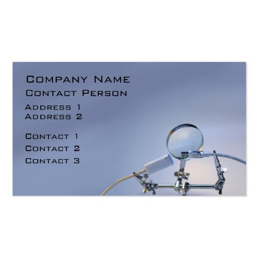 Computer Repairer Profile Card Business Card Template