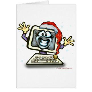 Computer Santa Card