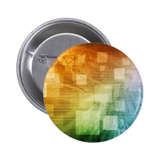 Computer Science as a Abstract Background Art 6 Cm Round Badge