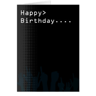 Computer screen Party theme Happy Birthday Greeting Card