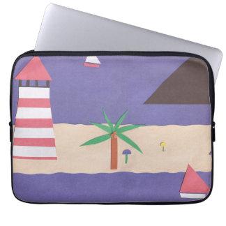 Computer Sleeve with a Beach Scene