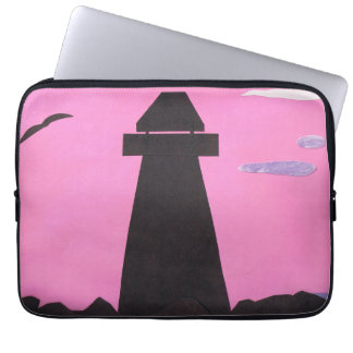 Computer Sleeve with a Lighthouse Scene