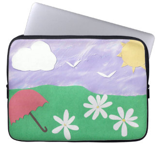 Computer Sleeve with Bright Outdoor Scene