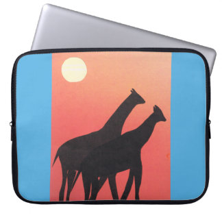 Computer Sleeve with Giraffe Design