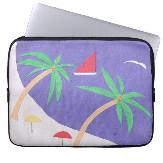 Computer Sleeve with Island Scene