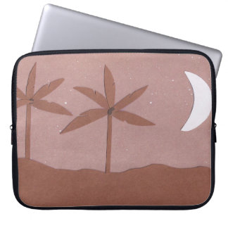 Computer Sleeve with Mountain and Night Sky Scene