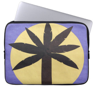 Computer Sleeve with Palm Tree Silhouette