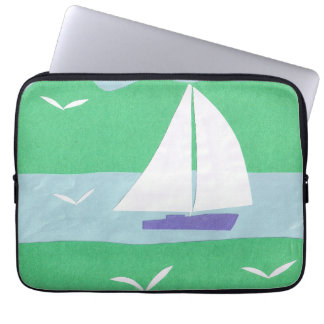 Computer Sleeve with Sailboat Design