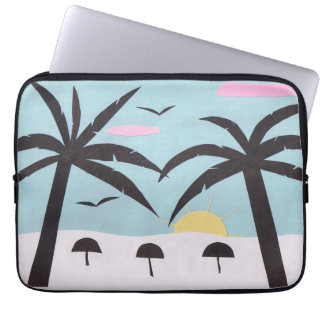 Computer Sleeve with Sunset Beach Scene