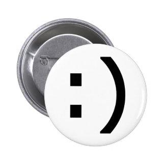 Computer Smiley 6 Cm Round Badge