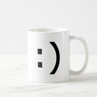 Computer Smiley Basic White Mug