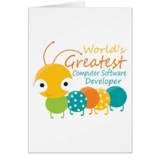 Computer Software Developer Greeting Cards