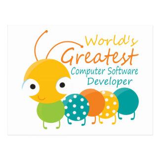 Computer Software Developer Postcard