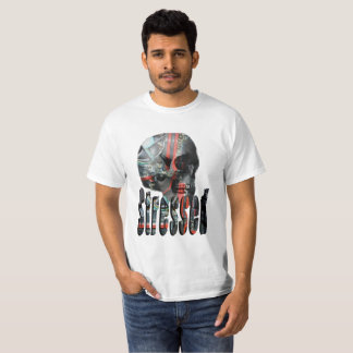 Computer Stressed Skull Head, T-Shirt