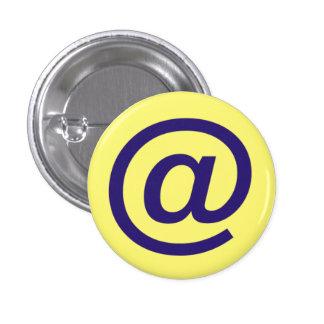 Computer @ Symbol 3 Cm Round Badge