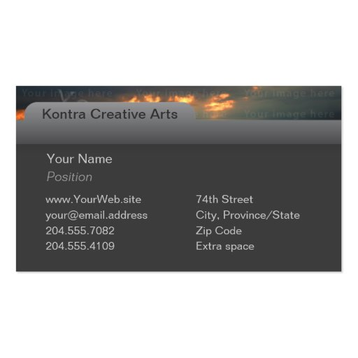 Computer Tab & Photo Business Card