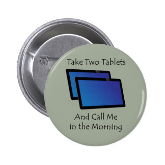 Computer tablets - Take Two 6 Cm Round Badge