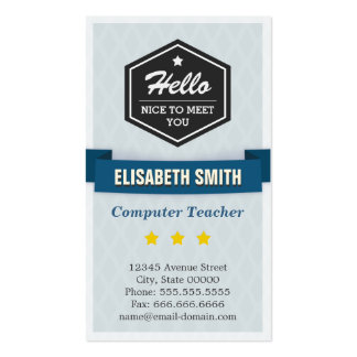 Computer Teacher - Creative Retro Stylish Pack Of Standard Business Cards