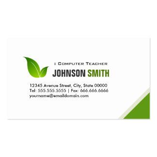 Computer Teacher - Elegant Modern Green Pack Of Standard Business Cards