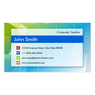 Computer Teacher - Modern Multipurpose Double-Sided Standard Business Cards (Pack Of 100)