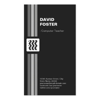 Computer Teacher - Premium Double Sided Pack Of Standard Business Cards