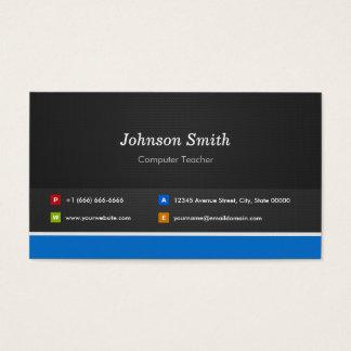 Computer Teacher - Professional Customizable Business Card