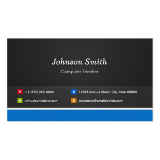 Computer Teacher - Professional Customizable Pack Of Standard Business Cards