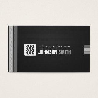 Computer Teacher - Urban Black White