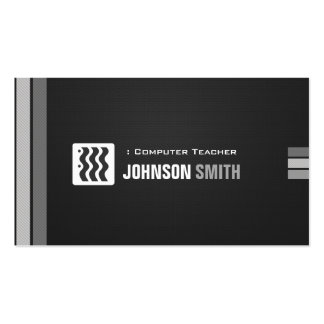 Computer Teacher - Urban Black White Pack Of Standard Business Cards
