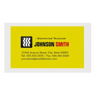 Computer Teacher - Urban Yellow White Pack Of Standard Business Cards