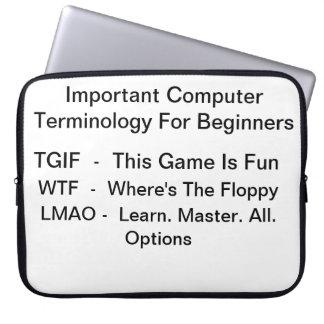 Computer Terminology Laptop Sleeve