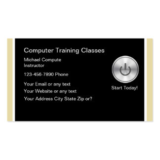 Computer Training Business Cards